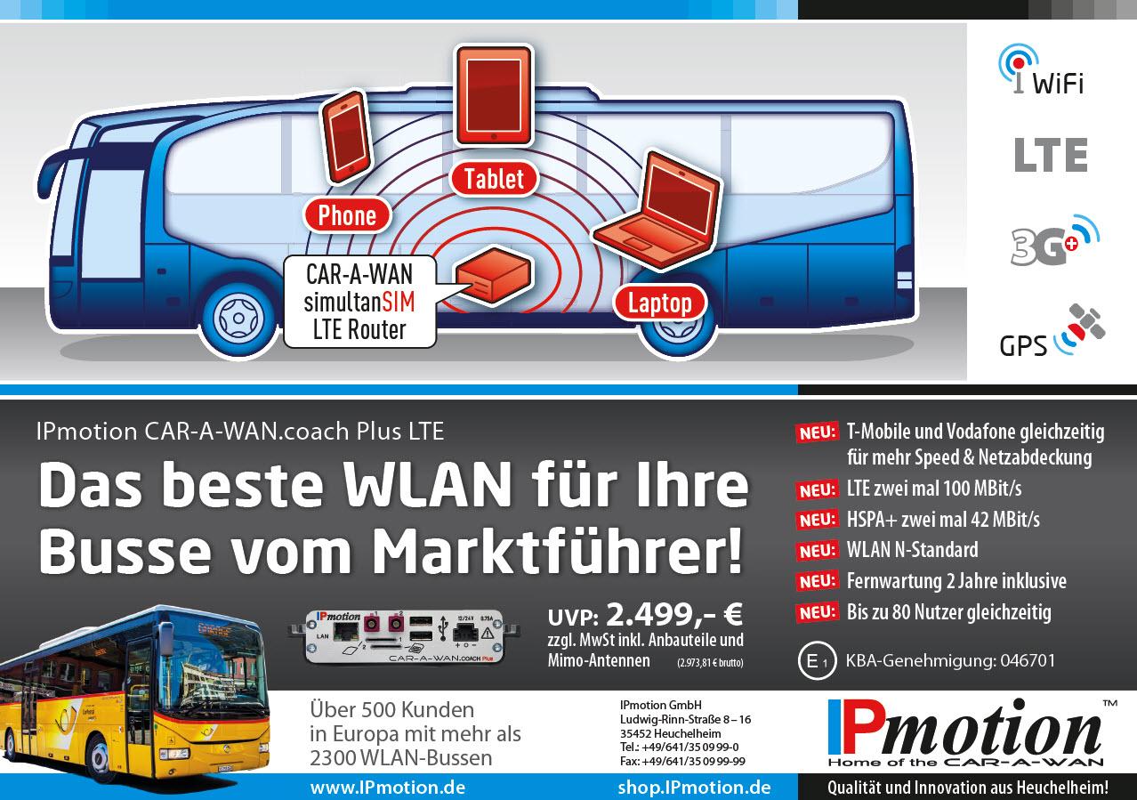 Aktionswerbung WLAN-Router für Busse